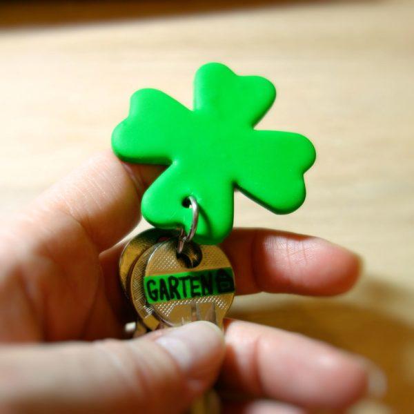 DIY - Schlüsselanhänger Glücksblatt aus Fimo