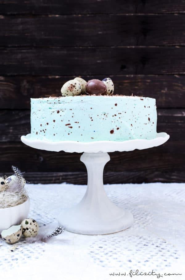 Gesprenkelte Vanille-Nougat-Torte