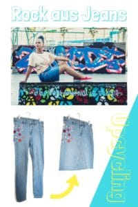 Rock aus Jeans Upcycling / Video-Anleitung