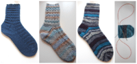 Socken stricken – Toe Up