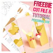 """freebie ♥ gift box """"bunny"""" ♥ anleitung inklusive schnittdatei/vorlage (svg+dxf+pdf)"""