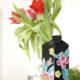 Vase aus Safttüten
