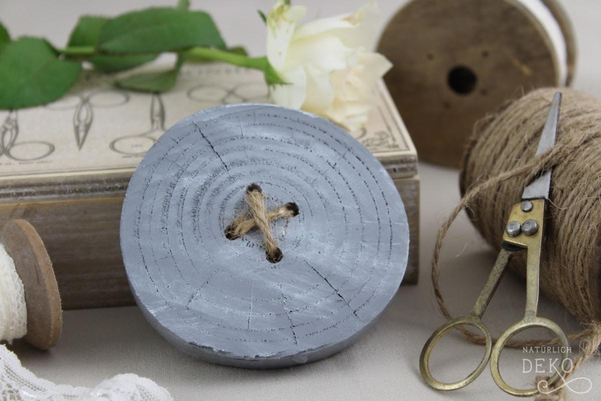 Deko Knopfe Aus Baumscheiben Basteln Handmade Kultur