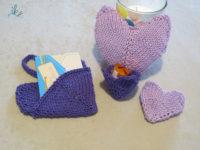 Herzen für den Muttertag stricken