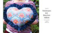 Nicht nur für Muttertag: Herzkissen mit Rüschen nähen