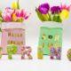 Frühlingsdeko mit Buchstaben aus Pappe selber machen