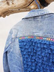 DIY-Jeansjacke mit Rüschen/Volants