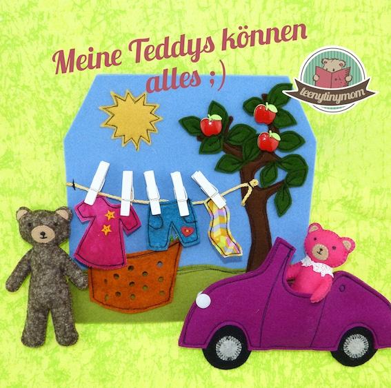 Teddymann und Teddyfrau ? Wer hängt die Wäsche auf? Spielbuch