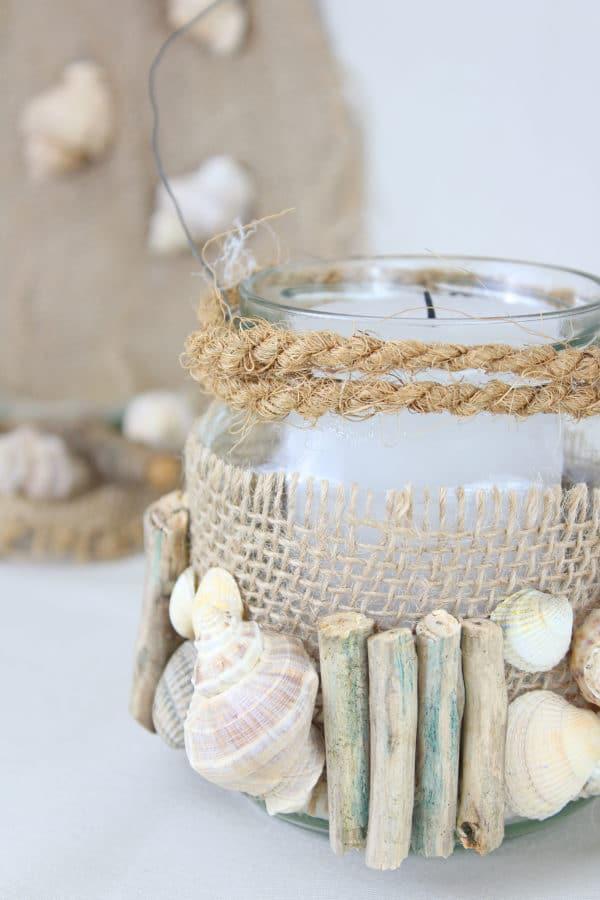 Diy Windlicht Mit Holz Und Muscheln Handmade Kultur