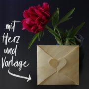 Kuvert mit Herz basteln ❤️ [mit Vorlage]