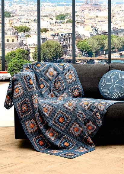 Die Grannysquare Decke Handmade Kultur