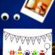 Monster-Einladungskarte für den Kindergeburtstag