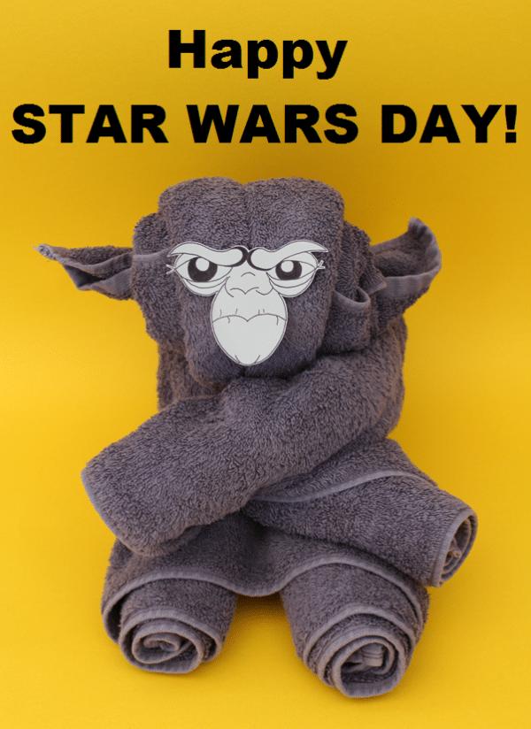 Handtuch-Origami-Yoda