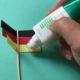 Deutschland Deko Fahnen zur Fußball WM Selber machen