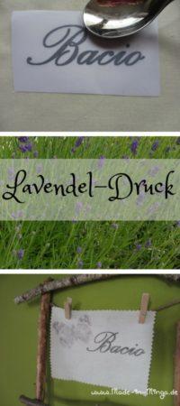 Lavendeldruck auf Baumwolle