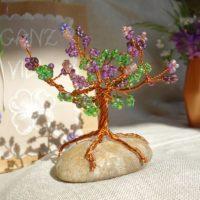 DIY Glücksbäumchen - Geschenkidee mit Draht