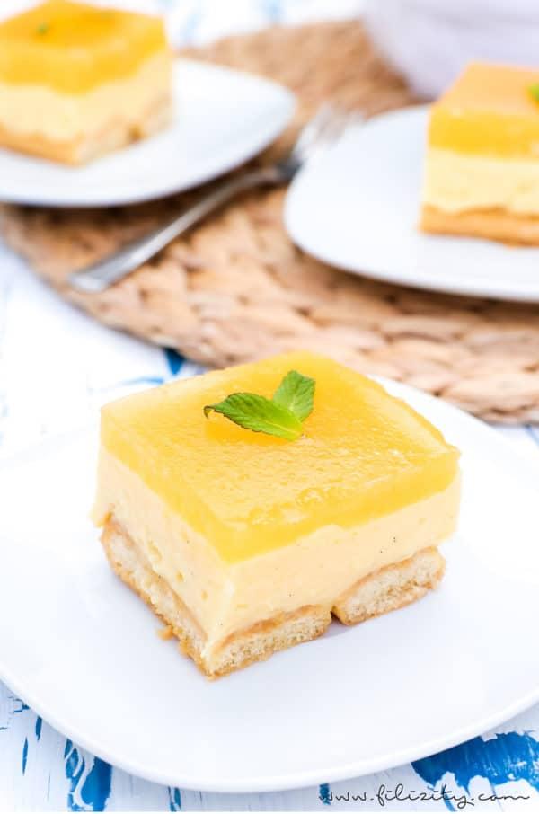 Pfirsich-Vanille-Torte ohne Backen
