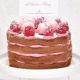 Kleine Schoko-Torte mit Himbeerfüllung