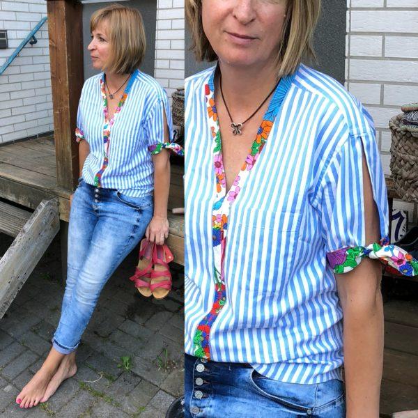 upcycling - Bluse mit Tunikaausschnitt nähen