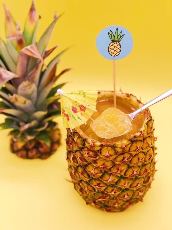 DIY Mitbringsel für die Sommer Party - Wackelpudding in der Ananas
