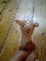Fingerpuppe Schaf