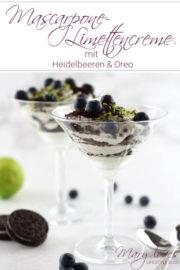 Mascarpone-Limettencreme mit Heidelbeeren & Oreo