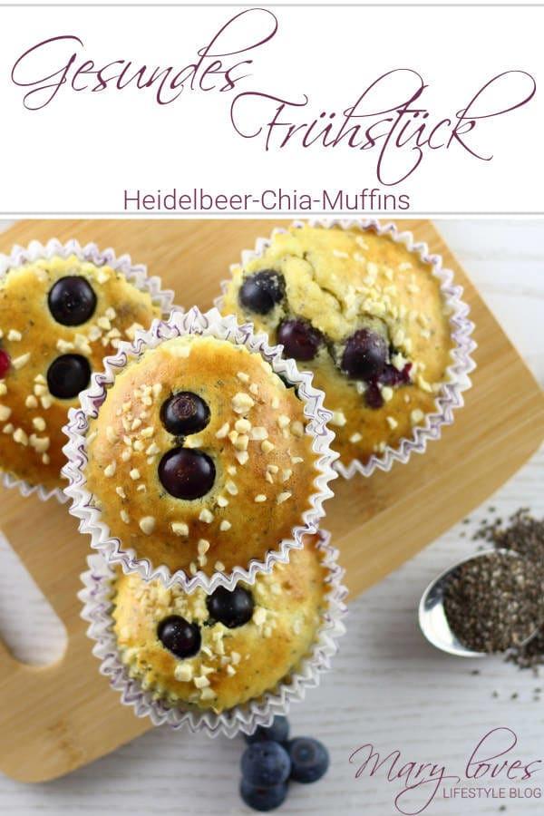 Gesundes Frühstück: Heidelbeer-Chia-Muffins