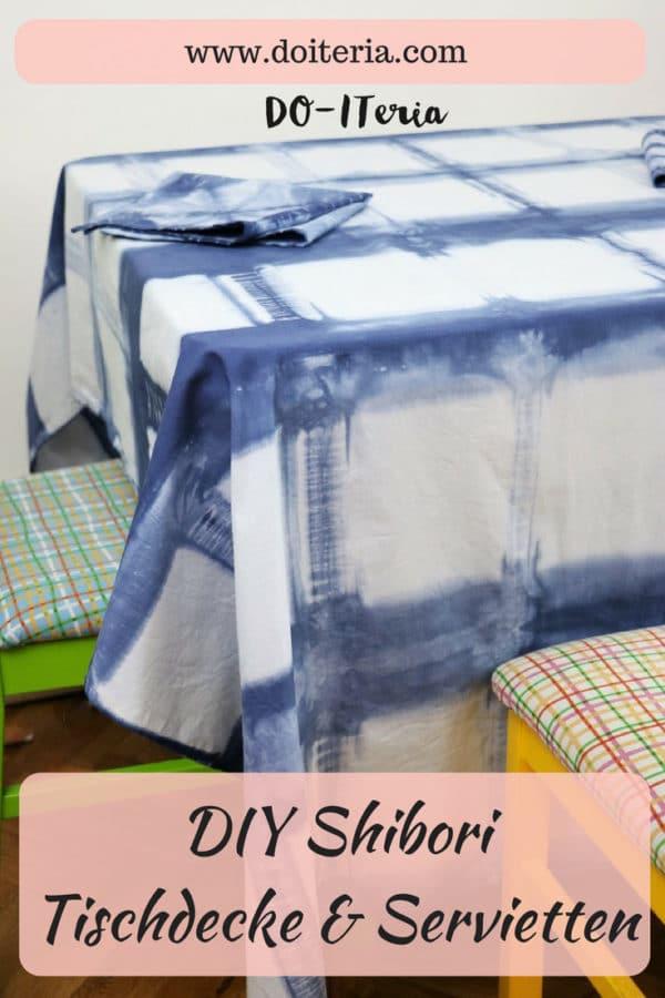 DIY Shibori Tischdecke & Servietten
