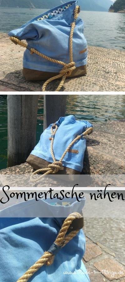 Gratis Anleitung: Sommertasche mit Snappap und Sisal