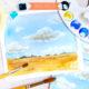 Malen lernen mit Aquarell: Himmel mit Wolken