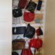 Lattenrost upcycling zum Handtaschenregal