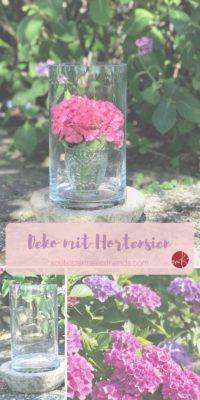 Wasserglas + Windlicht = Vase