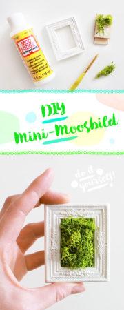 DIY MINI-MOOSBILD SELBER MACHEN / GESCHENK & WANDDEKO