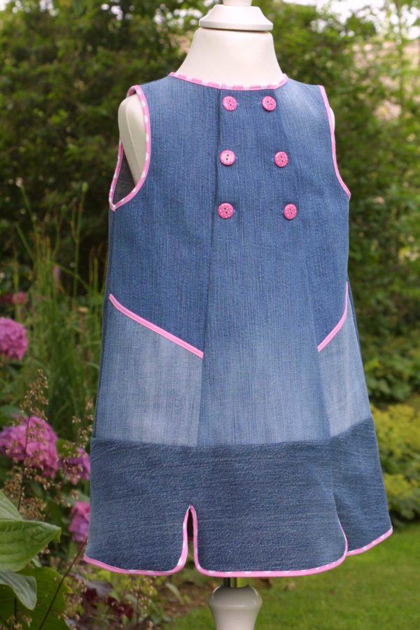 Freebook: Jeanskleidchen aus vier Hosenbeinen, Gr. 86 - 126