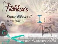 Kinder Nähkurs II  1x Di 14 - 18.00 Uhr