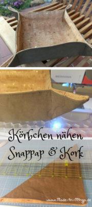 Körbchen nähen aus Kork und Snappap