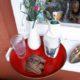 Bedruckte Glasuntersetzer und Kühlhusse für Flaschen