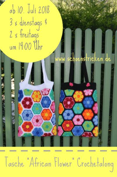 """Crochetalong Tasche """"African Flower"""""""