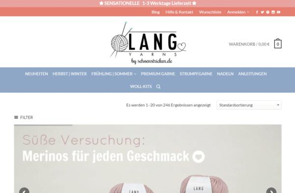 Home - Lang Yarns Wolle