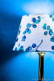 DIY Lampenschirm aus Leinwand
