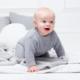 Babypullover Perlmuster