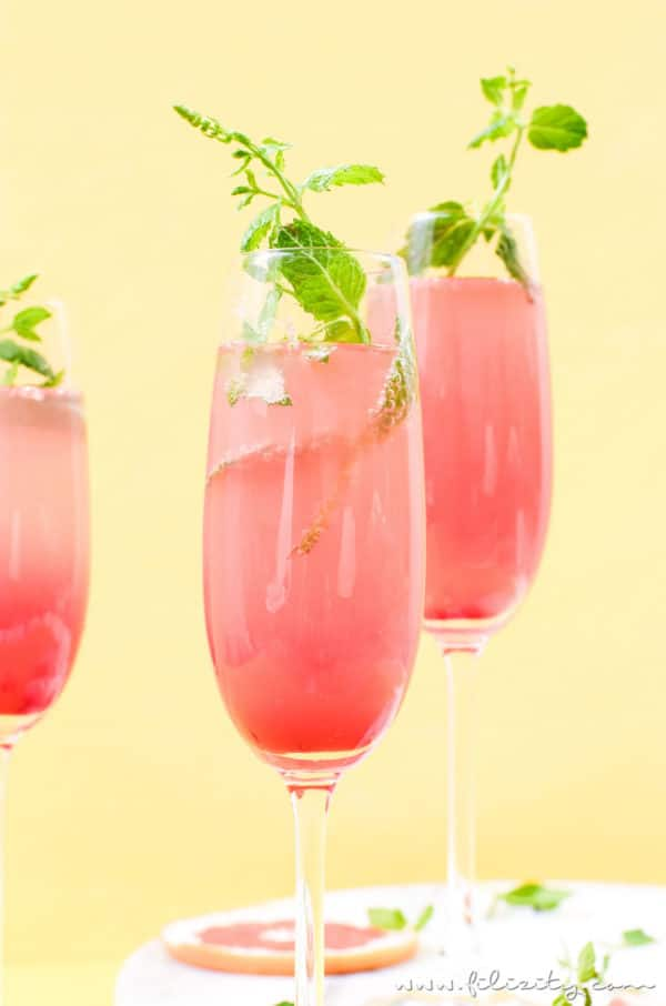 Grapefruit-Cocktail (mit oder ohne Alkohol)