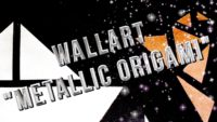 "WallArt ""Metallic Origami"""
