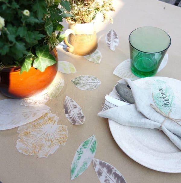 Partydeko - Skelettierte Blätter aus Pauspapier basteln
