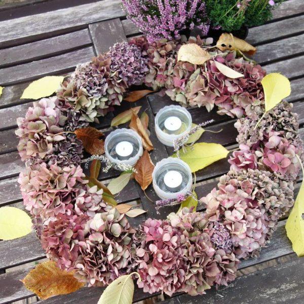 DIY Hortensienkranz selber binden