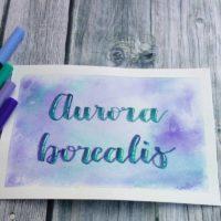 Handlettering - farbiger Hintergrund ohne Aquarellfarben II