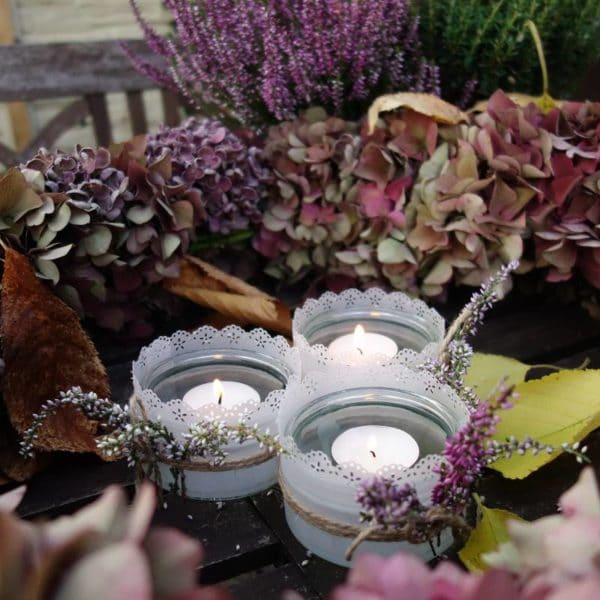 Upcycling Idee - Windlicht basteln für den Herbst