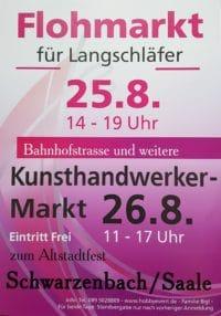 Kunsthandwerkermarkt in Schwarzenbach an der Saale am 26.8.2018