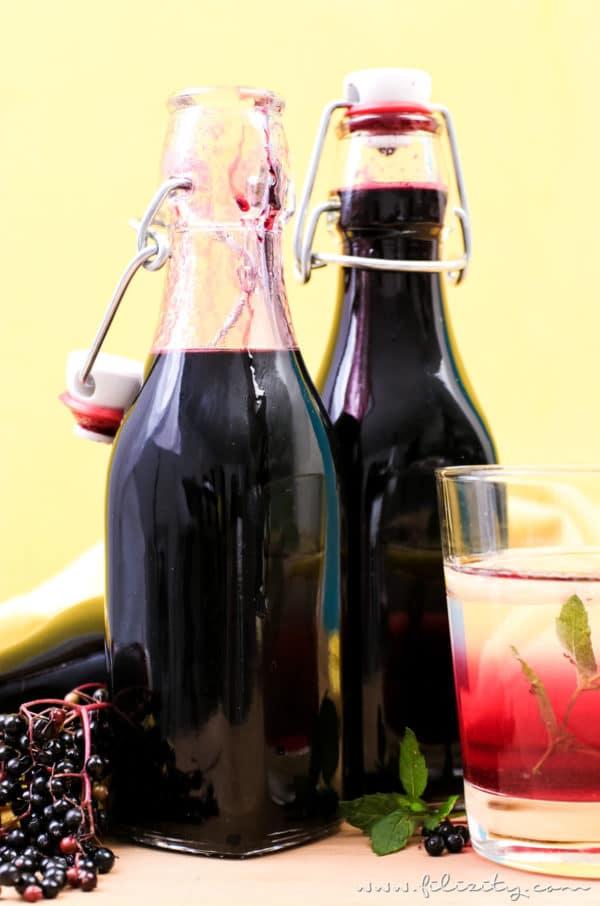 Holunderbeeren-Sirup / Fliederbeersirup