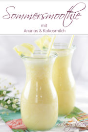 Tropisches Sommergetränk: Ananas-Kokos-Smoothie